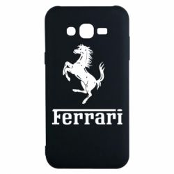 Чехол для Samsung J7 2015 логотип Ferrari