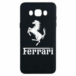 Чехол для Samsung J7 2016 логотип Ferrari