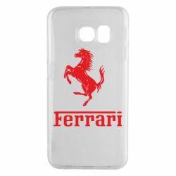 Чохол для Samsung S6 EDGE логотип Ferrari