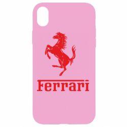 Чехол для iPhone XR логотип Ferrari