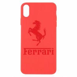 Чохол для iPhone Xs Max логотип Ferrari