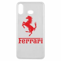 Чохол для Samsung A6s логотип Ferrari