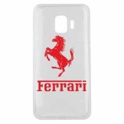 Чехол для Samsung J2 Core логотип Ferrari