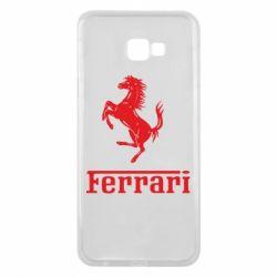 Чехол для Samsung J4 Plus 2018 логотип Ferrari