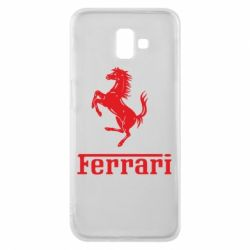 Чехол для Samsung J6 Plus 2018 логотип Ferrari