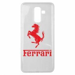 Чехол для Samsung J8 2018 логотип Ferrari