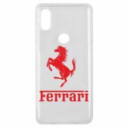 Чехол для Xiaomi Mi Mix 3 логотип Ferrari