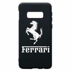Чехол для Samsung S10e логотип Ferrari