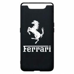 Чехол для Samsung A80 логотип Ferrari