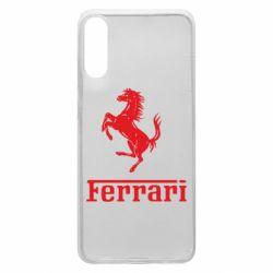 Чехол для Samsung A70 логотип Ferrari