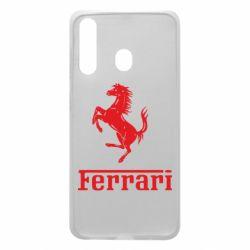 Чохол для Samsung A60 логотип Ferrari