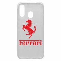 Чехол для Samsung A40 логотип Ferrari