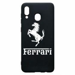 Чехол для Samsung A20 логотип Ferrari