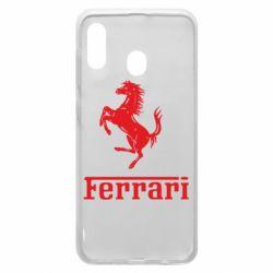 Чехол для Samsung A30 логотип Ferrari