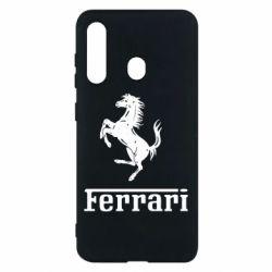 Чохол для Samsung M40 логотип Ferrari