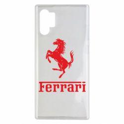 Чехол для Samsung Note 10 Plus логотип Ferrari