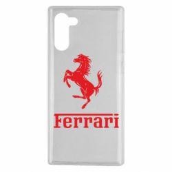 Чехол для Samsung Note 10 логотип Ferrari