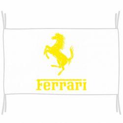 Флаг логотип Ferrari
