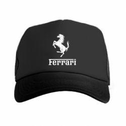 Кепка-тракер логотип Ferrari - FatLine