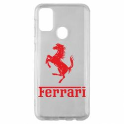 Чехол для Samsung M30s логотип Ferrari