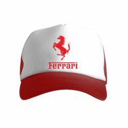Дитяча кепка-тракер логотип Ferrari