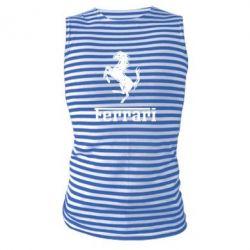 Майка-тельняшка логотип Ferrari - FatLine