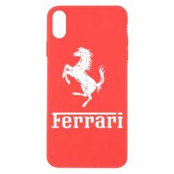 Чехол для iPhone X/Xs логотип Ferrari