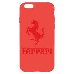 Чехол для iPhone 6/6S логотип Ferrari