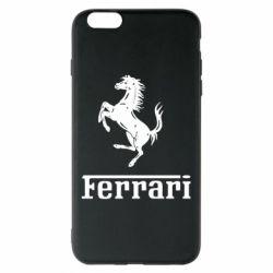 Чехол для iPhone 6 Plus/6S Plus логотип Ferrari