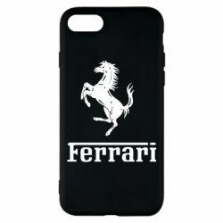 Чехол для iPhone 7 логотип Ferrari