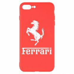 Чехол для iPhone 7 Plus логотип Ferrari