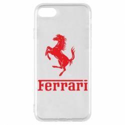 Чехол для iPhone 8 логотип Ferrari