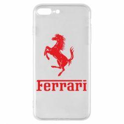 Чехол для iPhone 8 Plus логотип Ferrari