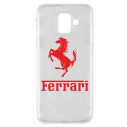 Чехол для Samsung A6 2018 логотип Ferrari