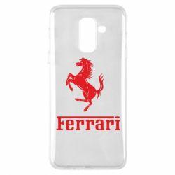 Чехол для Samsung A6+ 2018 логотип Ferrari