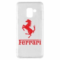 Чехол для Samsung A8 2018 логотип Ferrari