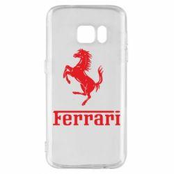 Чехол для Samsung S7 логотип Ferrari