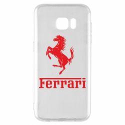 Чохол для Samsung S7 EDGE логотип Ferrari