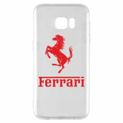 Чехол для Samsung S7 EDGE логотип Ferrari