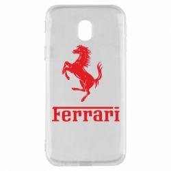 Чохол для Samsung J3 2017 логотип Ferrari