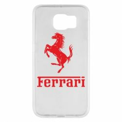 Чехол для Samsung S6 логотип Ferrari