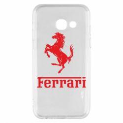Чехол для Samsung A3 2017 логотип Ferrari