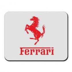 Коврик для мыши логотип Ferrari - FatLine