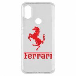 Чехол для Xiaomi Mi A2 логотип Ferrari