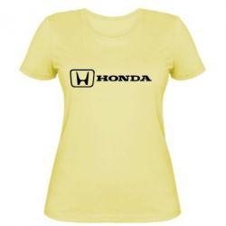 Жіноча футболка Логотип Honda - FatLine