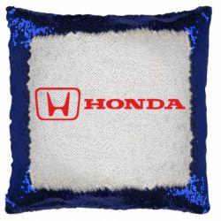 Подушка-хамелеон Логотип Honda