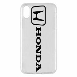 Чехол для iPhone X/Xs Логотип Honda