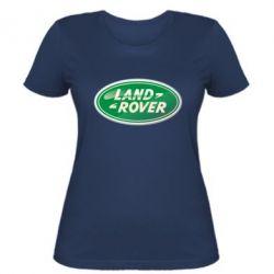 Женская футболка Логотип Land Rover