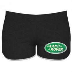 Женские шорты Логотип Land Rover - FatLine