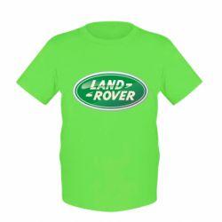 Детская футболка Логотип Land Rover
